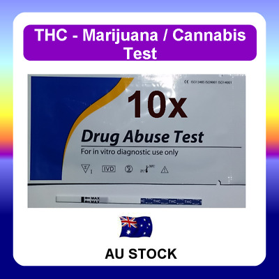 10 x Urine Drug Test Screen Testing Kit STRIPS for THC (Marijuana) Cannabis