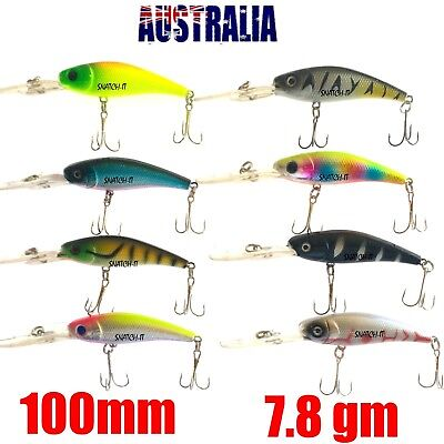 8 Redfin & Bream Freshwater Fishing Lures, Flathead, Bass, Perch, Trout,Cod