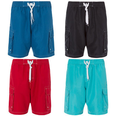 Cargo Bay Mens Swimming Board Shorts Swim Trunks Cargo Shorts Pockets Holiday