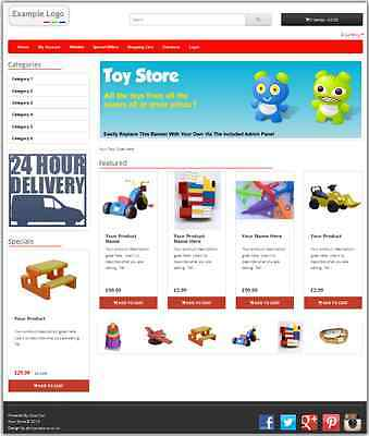 eCommerce Website Design Shopping Cart with 12 months Hosting & Support