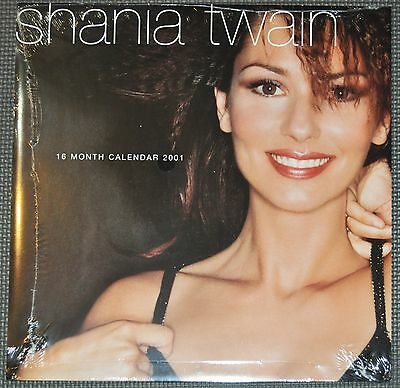 """Shania Twain 2001 US Collectible Calendar 12x12"""" *NEW* + now w/free gift"""