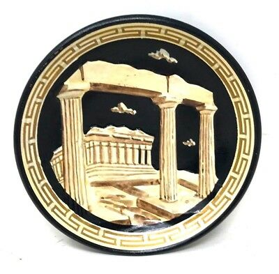"Ancient Greek Mythology Temple of Goddess Athena PARTHENON  Art Pottery 5"" Plate"