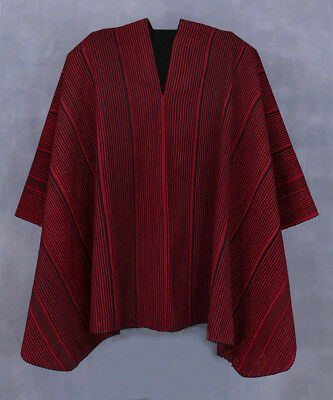 TREMENDOUS ARGENTINE INDIAN PONCHO Early-20 Spiritual Colors Sheep Wool TM11590