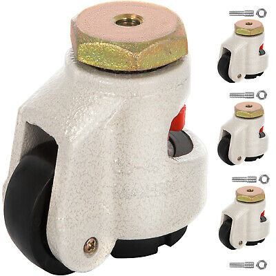 4 Pack Leveling Casters GD-60S Stem Mounted Footmaster Leveling Caster 551lbs/P