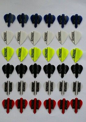 Bulk Pack of 36 Ruthless Extra Strong Kite Dart Flights Mixed (12 sets)