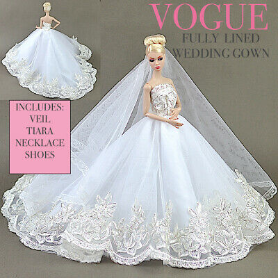 New barbie doll clothes clothing outfit evening wedding dress Vogue Evening Gown