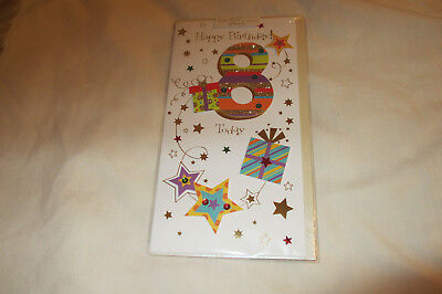 8 Years Old Today Birthday Card Decorated With Stick Ons And Embellishments