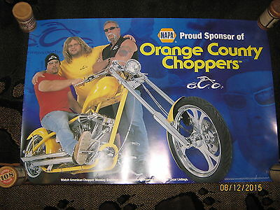 ORANGE COUNTY CHOPPERS NAPA Proud Sponsor Poster