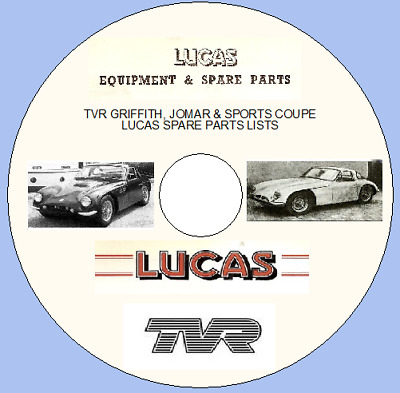 Tvr Griffith, Jomar & Sports Coupe Lucas Spare Parts Lists