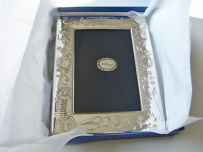 NEW  Hallmarked  Baby Christening Sterling Silver Picture Frame