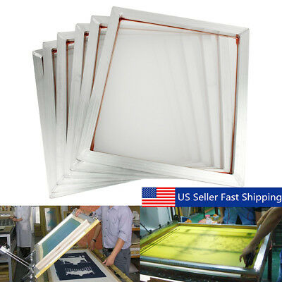 6Pcs 20''x18'' Screen Frame With 110 Mesh Silk Screen Printing Aluminum Alloy US