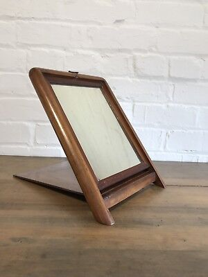 Beautiful Teak Antique Campaign Mirror Furniture Wooden