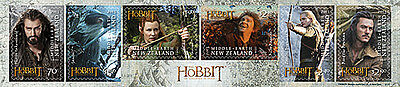 "Tolkien / Hobbit: 6 Briefmarken ""Desolation of Smaug"" (NZ)"