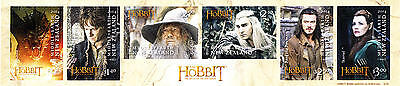 "Tolkien / Hobbit: 6 Briefmarken ""Battle of the five Armies"" (NZ)"