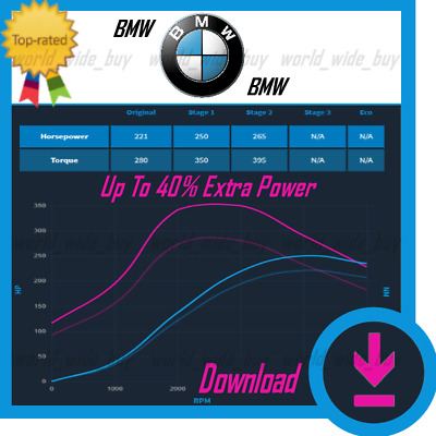 BMW 2/2 | ECU Map Tuning Files | Stage 1 + Stage 2 | Remap Files