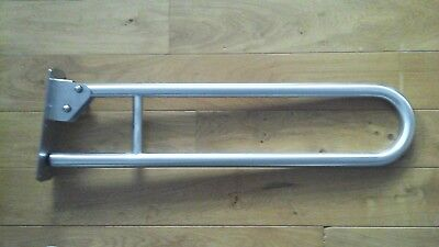 Nymas Hinged Support Rail - 800mm - Polished Stainless Steel