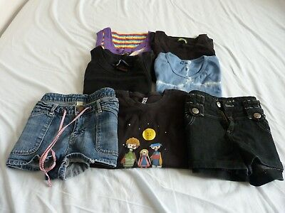 Selection of T shirts and shorts size 12 in very good condition. 7 items in all