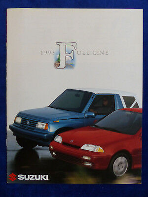 Suzuki 1993 Full Line Sidekick Samurai Swift GT - US-Prospekt Brochure 1992 USA