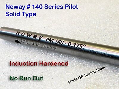 """Neway Valve Guide Pilot 0.375"""" Top Choose Your Own Stem Size Hardened Steel"""