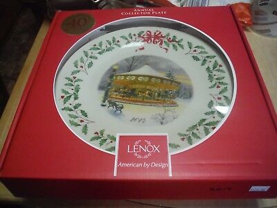 Lenox 2014 Annual Holiday Collector Plate  Original Box