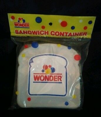 Wonder Bread Sandwich Container Sealed New in Bag Advertising