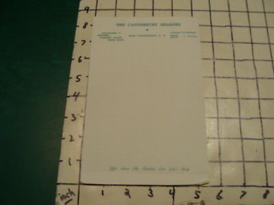 vintage original paper -- THE CANTERBURY SHAKERS - New Hampshire