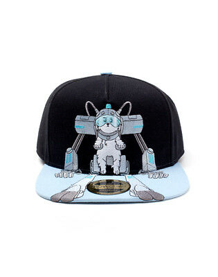 42ef0d0ee10 Official - Rick And Morty Snuffles (Snowball) Emboirdered Black Snapback Cap