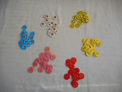 The Simpsons Board Game Springfield USA - replacement game tokens - discs