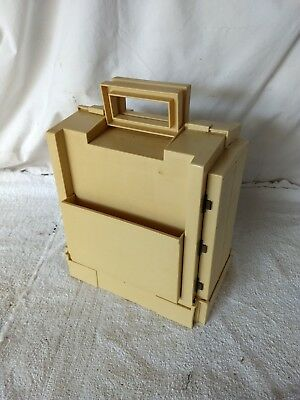Vintage 1983 World Wide Media  PLASTIC FOLD OUT SEWING BOX  w/STUFF!
