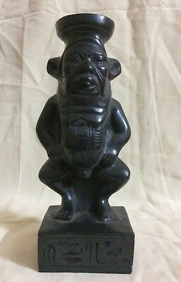 ANCIENT EGYPTIAN STATUE ANTIQUE Bes Goods EGYPT Carved STONE New Kingdom 2613 BC