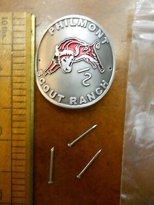 Philmont Scout Ranch Bull Hiking Staff Medallion (New In Package)