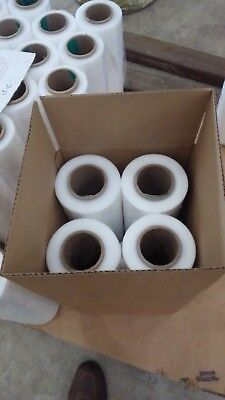 "18"" x 1500' x 60 Gauge Stretch Shrink Wrap 4 Rolls Hand Plastic Wrapping Pallet"