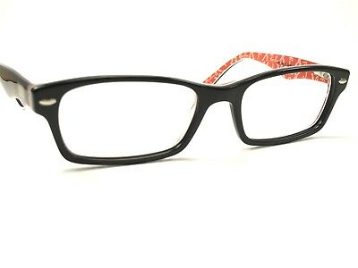 086c9afb8f Authentic Ray Ban RB5206 2479 Black on Red Rx Designer Eyeglasses Frames 52  18