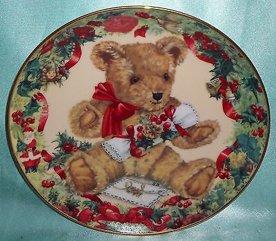 Vintage ~ Teddy's First Christmas Franklin Mint Plate ~ Estate Collectable