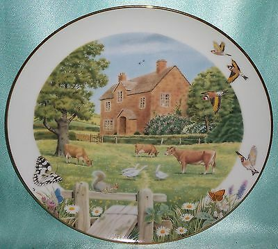 Vintage ~ Signed Cotswold Manor Franklin Mint Plate ~ Estate Collectable