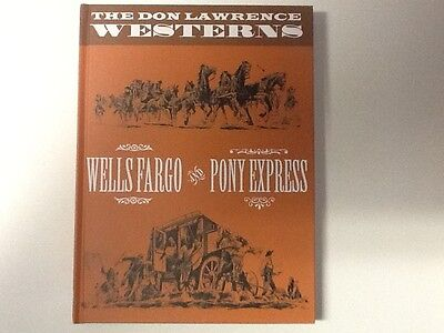 💰Graphic Novel Don Lawrence Westerns Pony Express Wells Fargo comics Hardback !