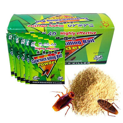1-10x Powder Cockroach Killing Bait Roach Killer Insect Pesticides Insecticide