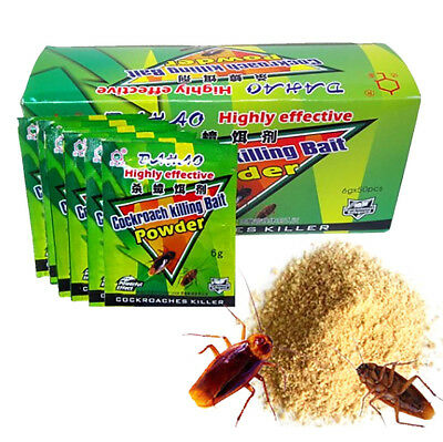 5 Packs Powder Cockroach Killing Bait Roach Killer Insect Pesticides Insecticide