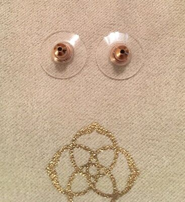 Kendra Scott Pair of Signature Rose Gold Plated Earring Disc Backs New