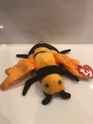 TY BEANIE BABY - BUZZIE the Bumblebee - MWMT - RETIRED 2001 -  4.99 ... 8b298f3722a4