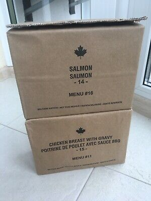 CANADIAN MRE (Lot Of 2 Pcs) Salmon + Chicken Breast With Gravy