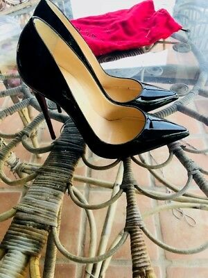 new style 77489 1024e CHRISTIAN LOUBOUTIN SO Kate 120 MM Black Patent Leather Size 39 US 7 ½ -8