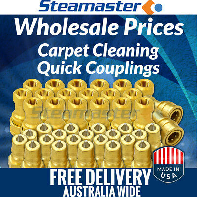 """Carpet Cleaning Hose Connectors 20 Brass Female & 20 Brass Male ¼""""  WHOLESALE"""