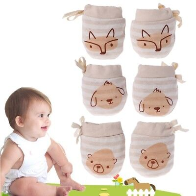 Baby Glove Anti Scratch Face Hand Guard Soft Protection Newborn Mitten Cartoon