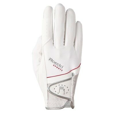 Roeckl equestrian horse riding gloves white size 7 1/2 new