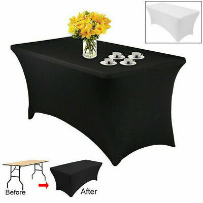 Tablecloths Rectangle Spandex Lycra Table Cloth 8FT 240cm Wedding Party Trestle