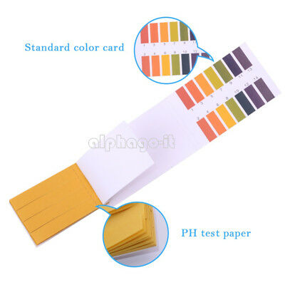 80Pcs PH Indicator Test Strips 1-14 Laboratory Paper Litmus Tester Urine Saliva