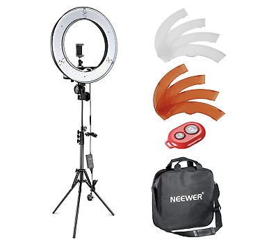 """Neewer 12"""" Inner 14"""" Outer LED Ring Light, Light Stand & Accessories Photography"""