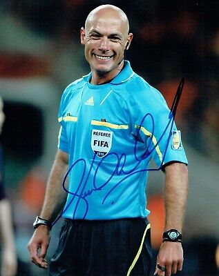 Howard WEBB Signed 10x8 Photo 2 AFTAL COA Autograph Football Referee