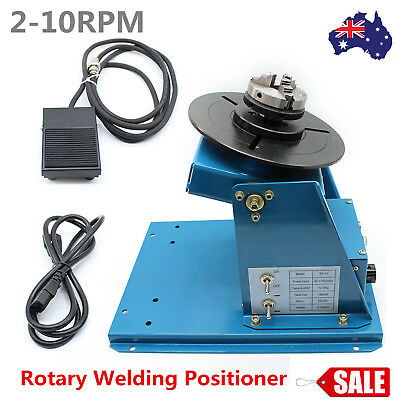 2-10RPM Flexible Rotary Welding Positioner Turntable Table Tilt 3Jaw Lathe Chuck
